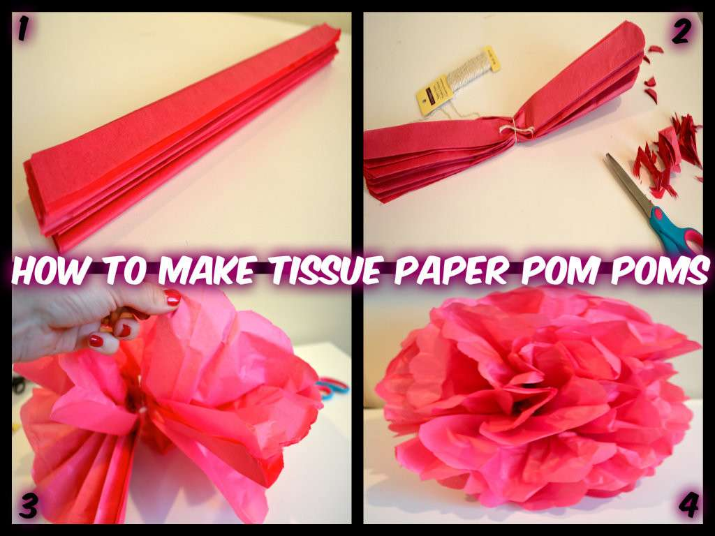 Make Tissue Paper Pom Poms Fun Easy Party Decorations