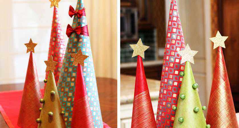 Make Wrapping Paper Christmas Tree Decorations Modernmom