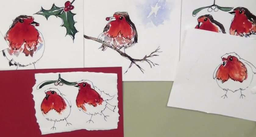 Make Your Own Christmas Cards Dec Art Tutor