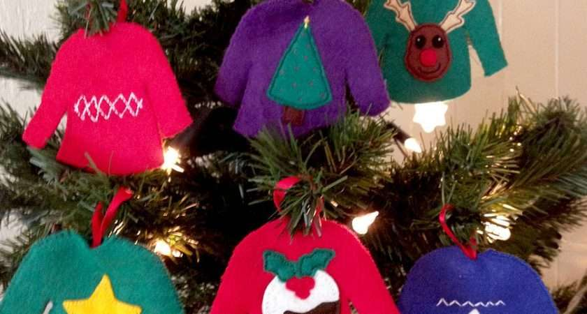 Make Your Own Christmas Jumpers Decorations Sarah