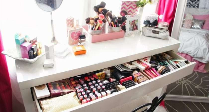 Makeup Collection Beauty Room Storage Decor Girly