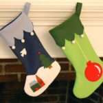 Making Christmas Stockings Whileshenaps