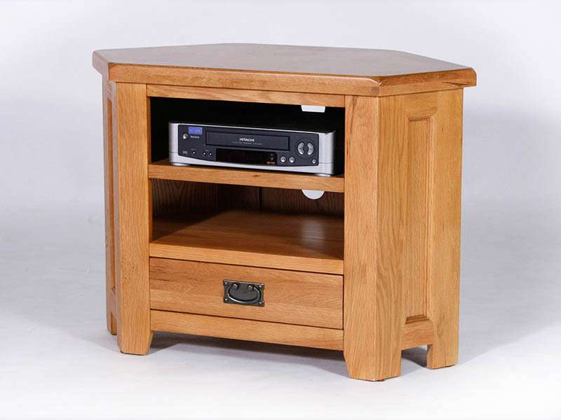 Malvern Oak Corner Unit Solid Furniture Oakea