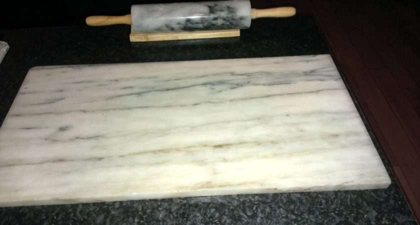 Marble Rolling Pin Slab Makes Out Pastry Much Easier
