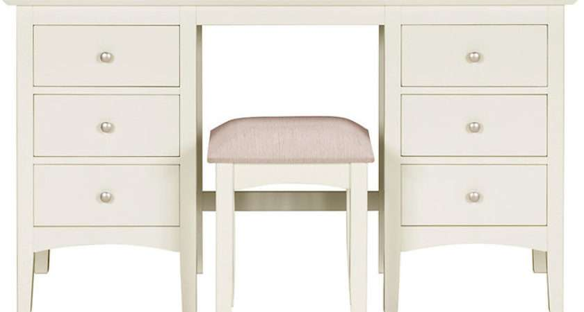 Marks Spencer Hastings Ivory Dressing Table Stool Set