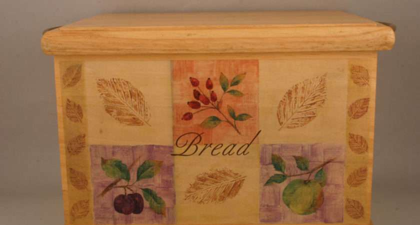 Marks Spencer Wild Fruits Bread Bin Wooden Pattern