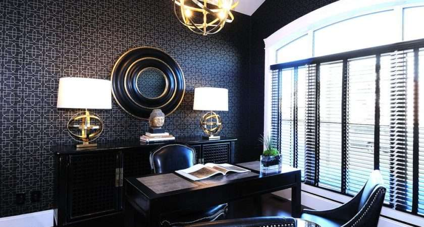 Masculine Home Office Contemporary Window