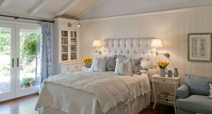 Master Bedroom Clean Blue White English Country Style