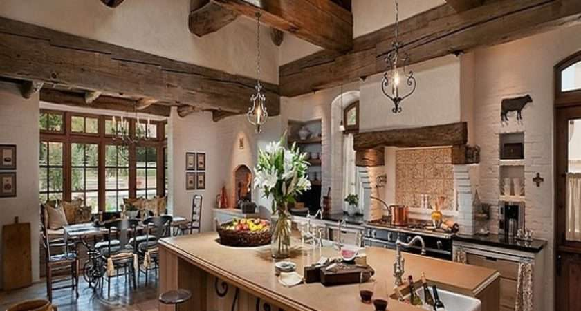 Mediterranean Style Kitchen Rustic French Country