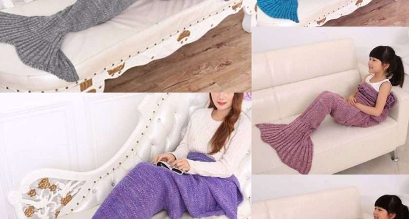 Mermaid Tail Blanket Warm Soft Blankets Kids