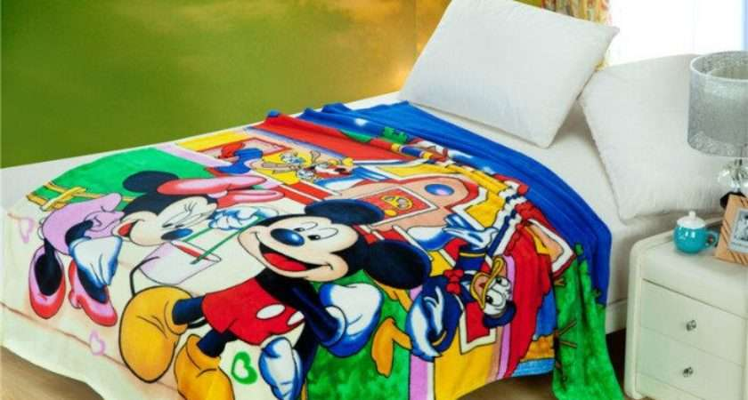 Mickey Minnie Mouse Printed Blankets Throws Bedding