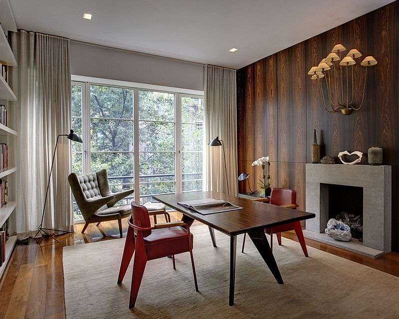 Midcentury Home Office Relaxed Modern Ambiance Design