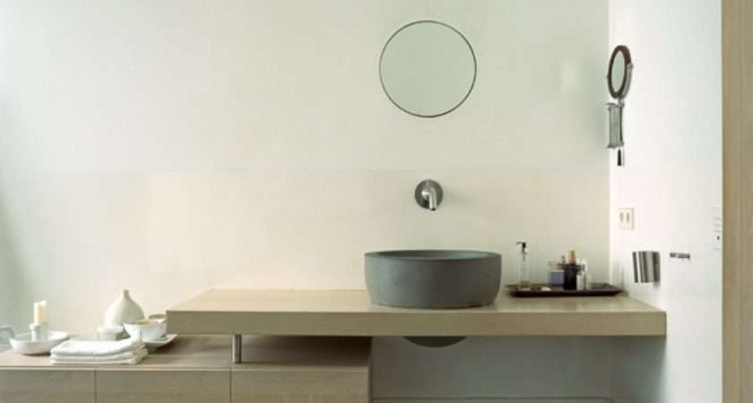 Minimal Bathroom Streamlined Cabinetry Decorating
