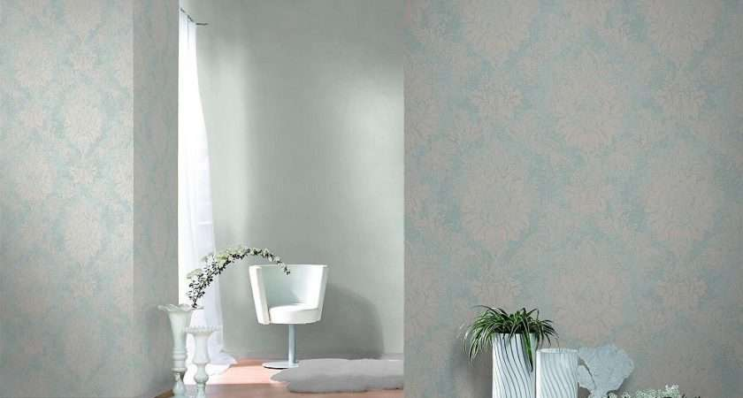 Mint White Silver Ornament Damask Pattern Quality Feature