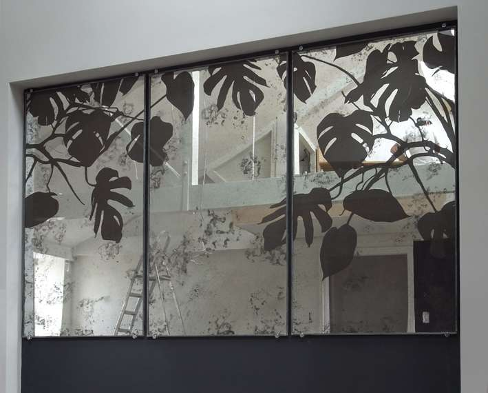 Mirror Feature Walls Saligo Design Wall Features Antiqued