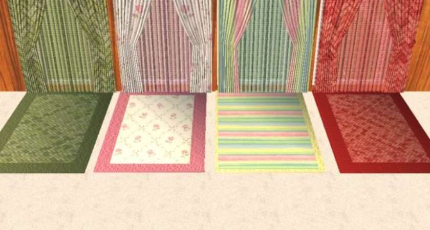 Mod Sims Double Single Wide Curtains