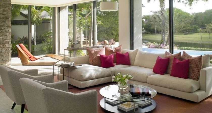 Modern American Style Living Room Decoration