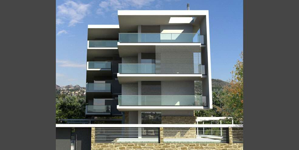 Modern Appartment Building Architecture Akp Architects Chalandri
