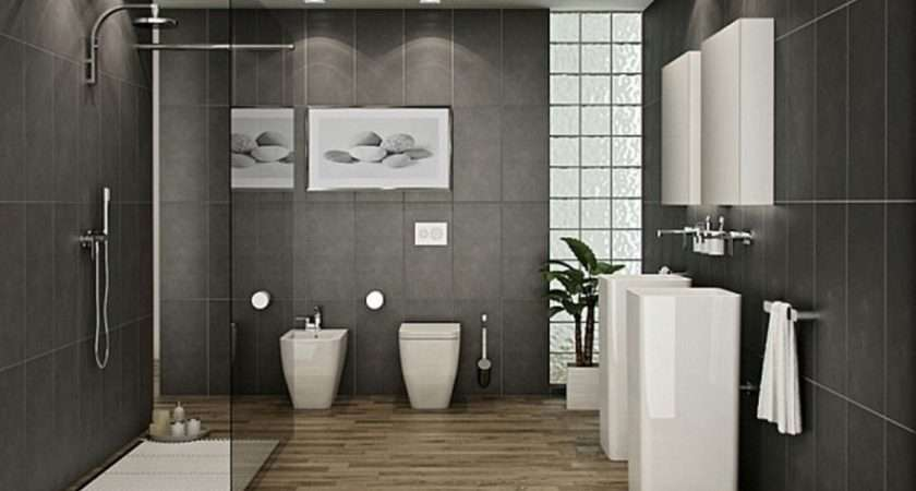 Modern Bathroom Stone Dark Wall Tiles