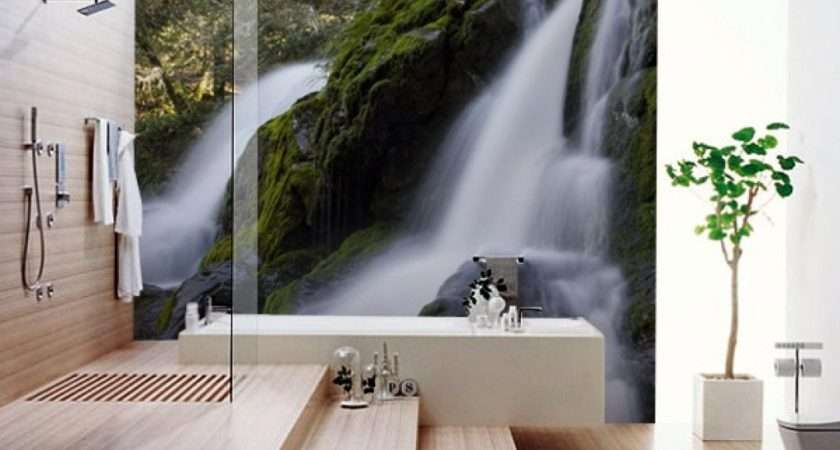 Modern Bathroom Wall Murals Ideas Best