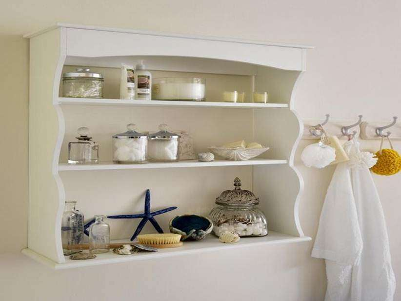 Modern Bathroom Wall Shelf Design Idea Decor Ideas