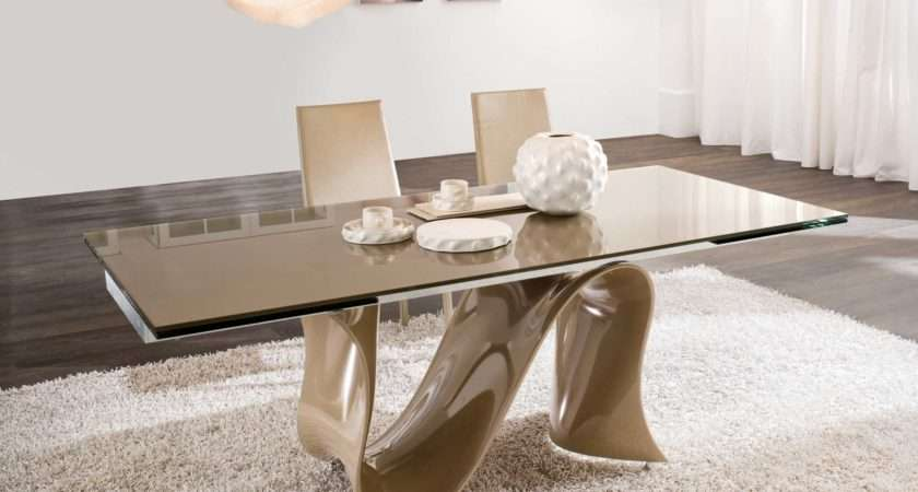 Modern Dining Room Tables Sets Extension Wave