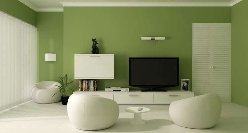 Modern Home Decor Interior Green Color Painting Ideas