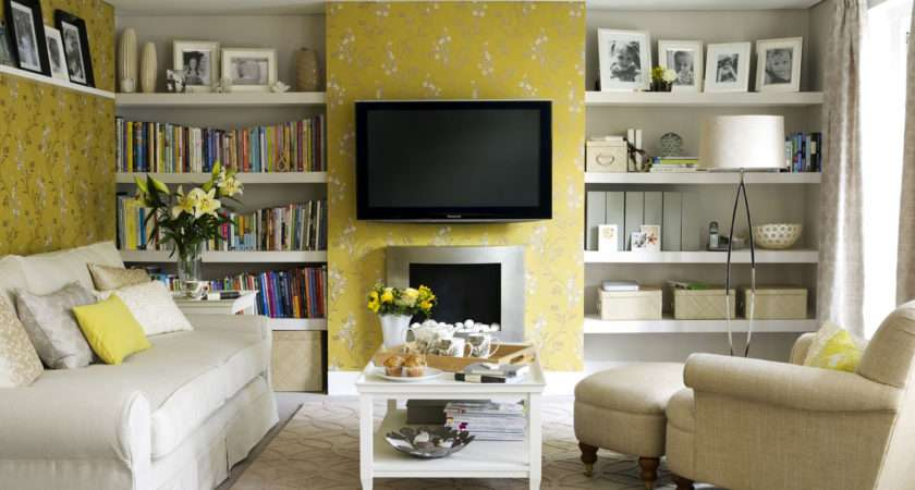 Modern Home Decor Yellow Wall Painting Designs