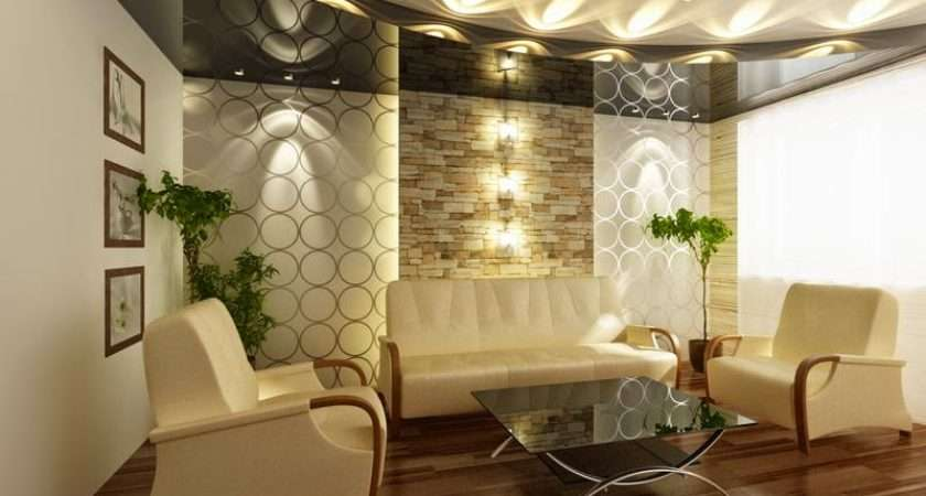 Modern Living Room Decoration Architecture Concept