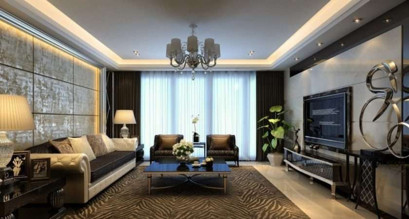 Modern Living Room Wall Decorating Ideas House