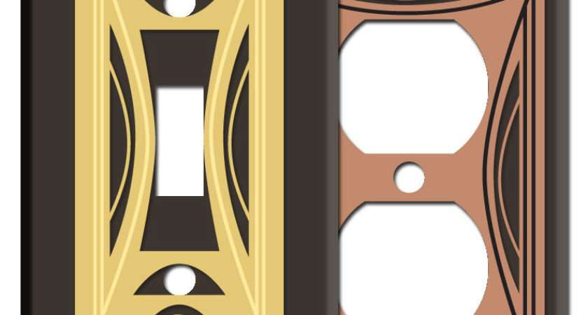 Modern Milano Wall Switch Plates Brown Kyle Design