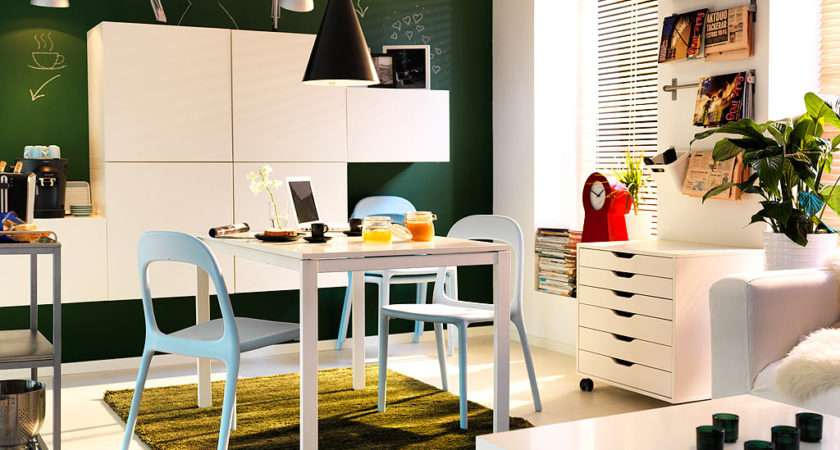 Modern Small Spaces Dining Room Ideas Ikea