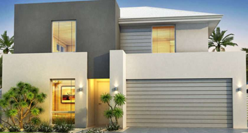 Modern Style Narrow Block House Designs Grey Exterior Color Design