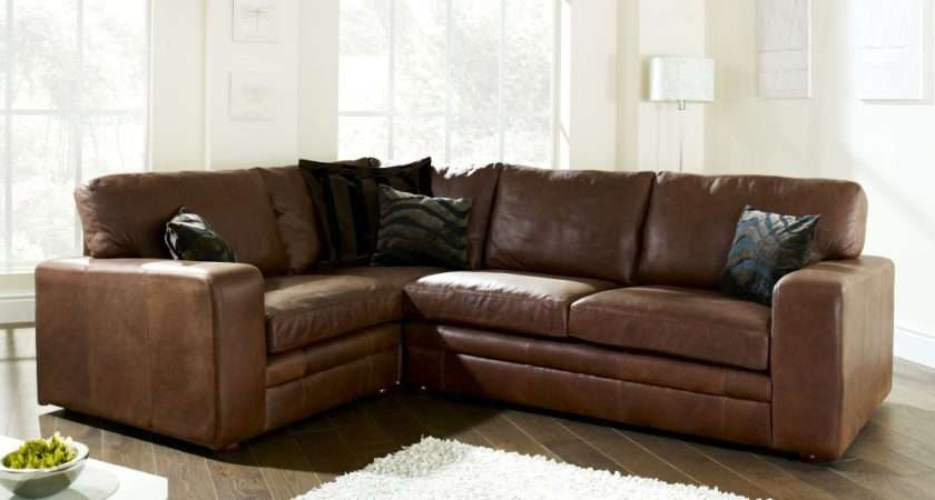 Modular Leather Corner Sofa Beds Available