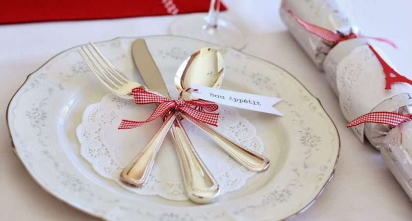 Monogram Place Cards Candy Cane Setting Christmas Message