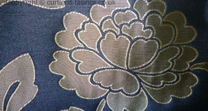 Montgomery Interiors Windsor Blue Made Measure Curtains