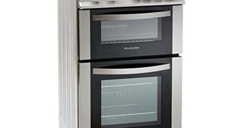 Montpellier Mdg Double Oven Gas Cooker Silver