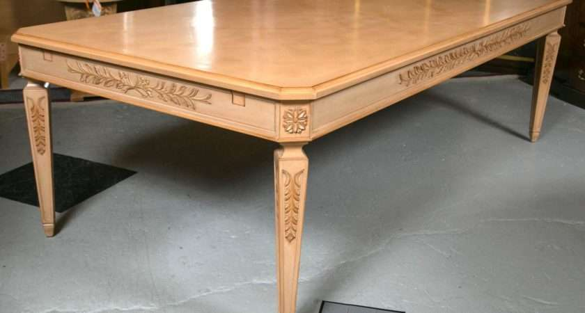 Monumental Louis Xvi Style Blonde Wood Dining Table Sale