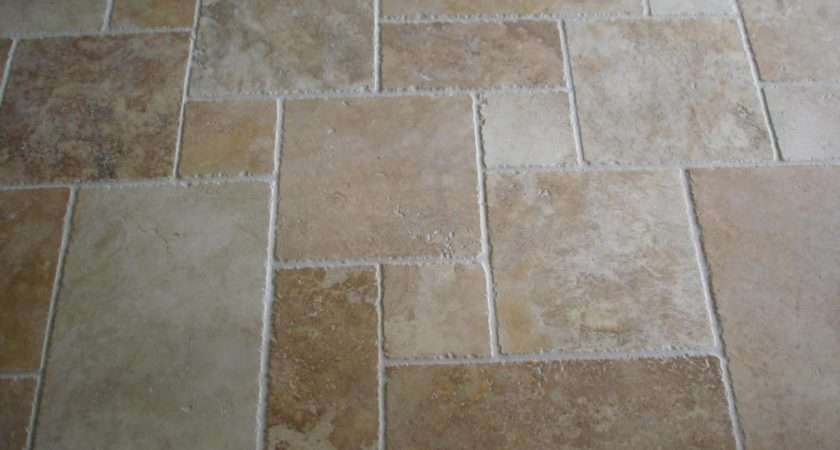 More Contemporary Tile Display Travertine Pattern Floor