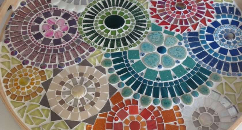 Mosaic Design Bowlhandcrafted Tray Art Home