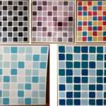 Mosaic Wall Tile Transfers Stickers Square Kitchen Bathroom Tiles