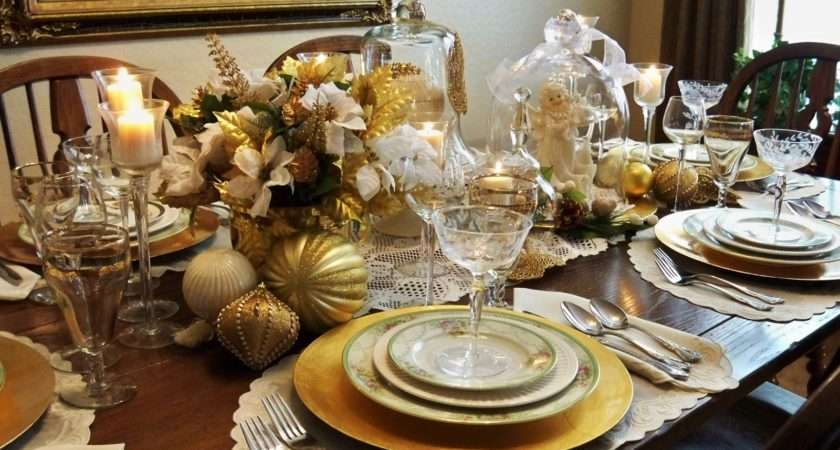 Most Items Create Tablescape Were Thrift Shopping