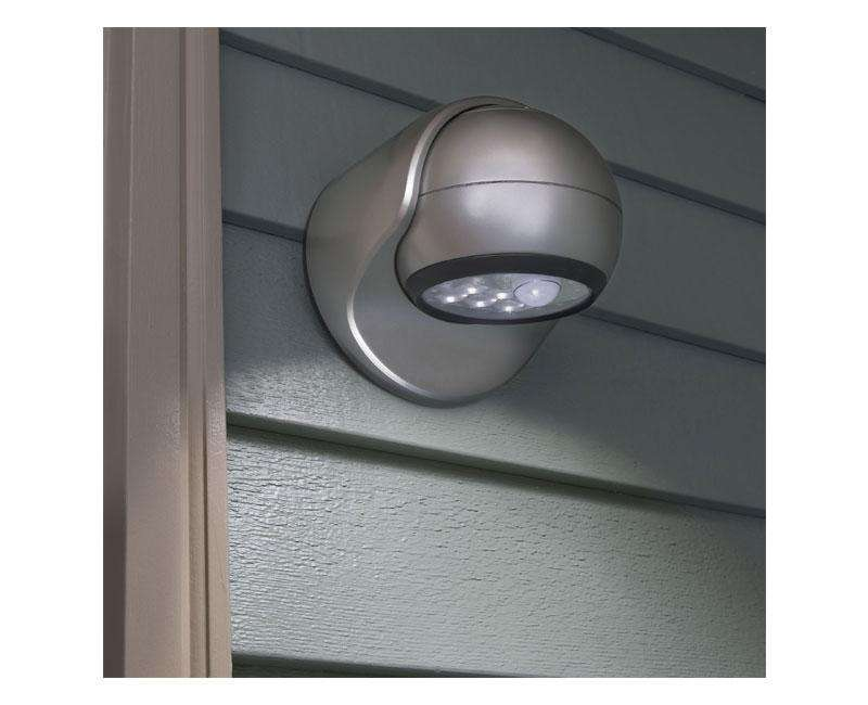 Motion Sensor Led Porch Light Silver Wall Source