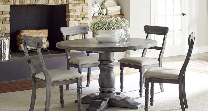Muses Dove Grey Round Dining Room Set