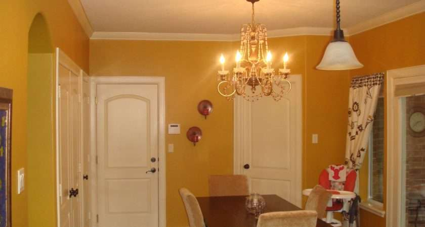 Mustard Yellow Kitchen Walls Before After