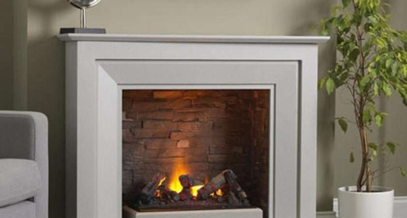 Napoli Standing Electric Fire Suite