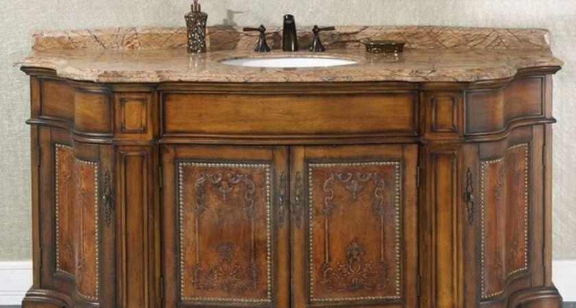Natural Stone Top Inch Single Sink Vintage Style
