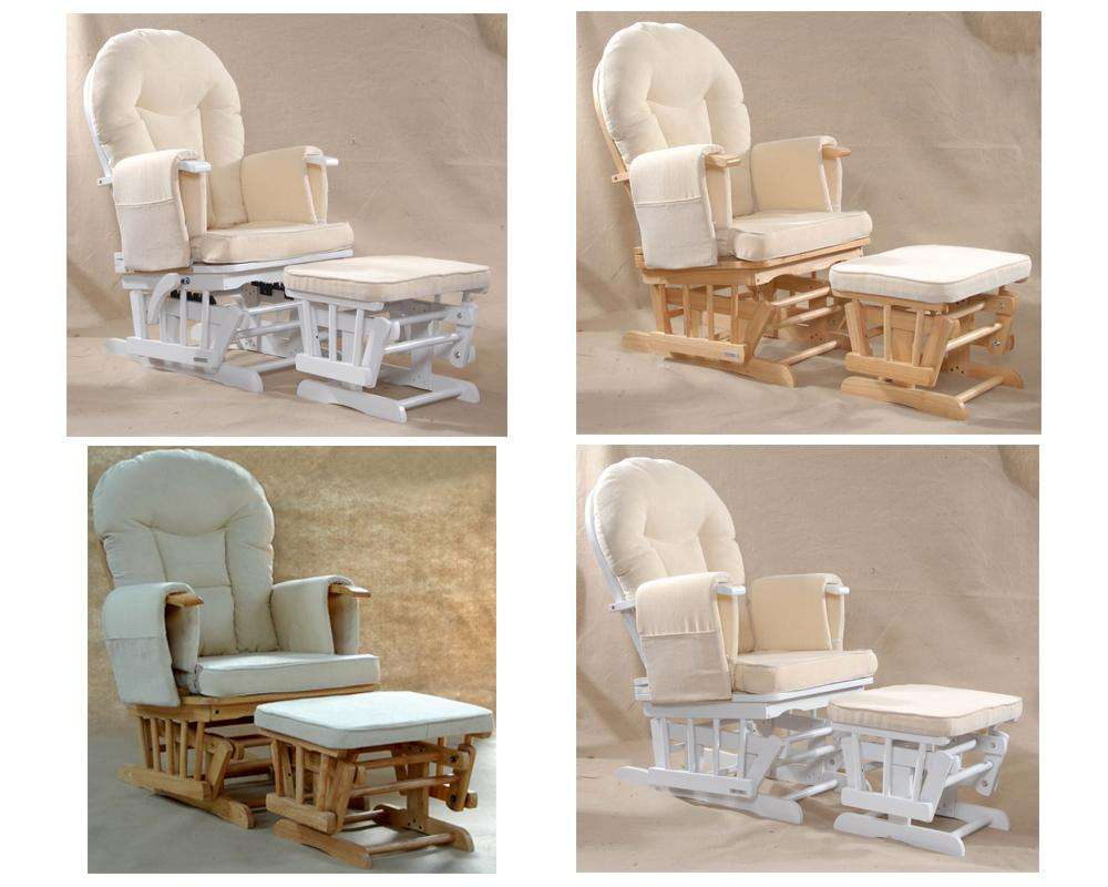 Natural Wood White Nursing Glider Maternity Rocking Chair Srp