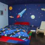 Navy Blue Ceiling One Equals Space Themed Room