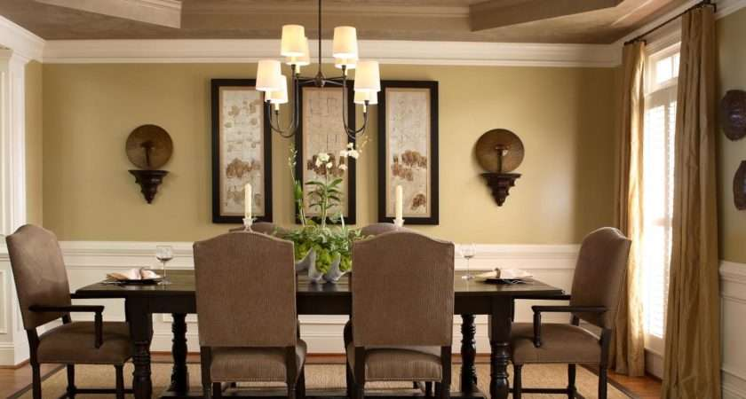 Neutral Dining Room Tray Ceiling Hgtv